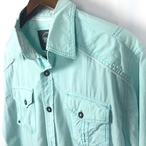 BKE Mens Button Down Shirt w/Pockets Size Medium